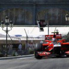 Jerome D'Ambrosio rueda por las calles de Mónaco