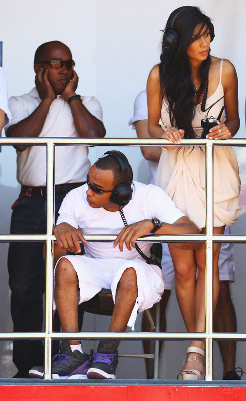 El padre, el hermano y la novia de Lewis Hamilton en el GP de Mónaco 2011