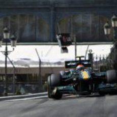Trulli durante la clasificación del GP de Mónaco 2011