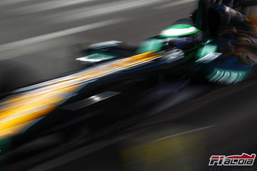 Heikki Kovalainen a toda velocidad