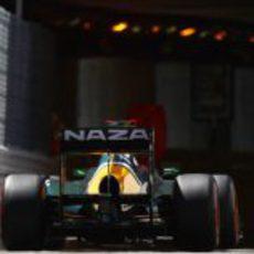 Heikki Kovalainen entrando al túnel