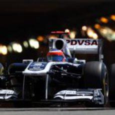 Rubens Barrichello saliendo del túnel