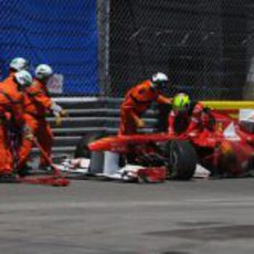 Accidente de Felipe Massa en el GP de Mónaco 2011