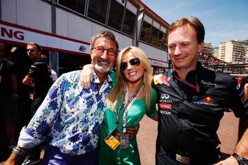 Eddie Jordan, Geri Halliwell y Christian Horner en el GP de Mónaco 2011