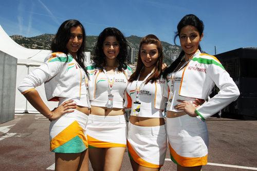 Las chicas de Force India en el GP de Mónaco 2011