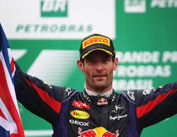 Mark Webber cree que Hamilton no está al mismo nivel que Vettel y Alonso