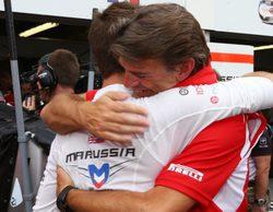 Marussia hace historia al sumar dos puntos con el noveno puesto de Bianchi