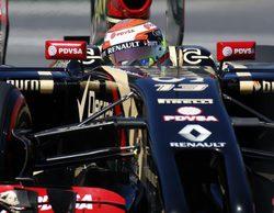 """Romain Grosjean: """"El alerón trasero se rompió, y fue más seguro abandonar"""""""