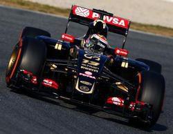 Pastor Maldonado sorprende y lidera en el primer día de test de la primera ronda en Barcelona