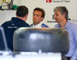 Giedo van der Garde, contento, viste ya los colores de Sauber en Australia
