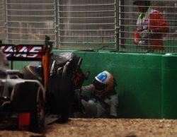 """Fernando Alonso tras salir ileso del GP: """"El coche quedó prácticamente destruido por completo"""""""