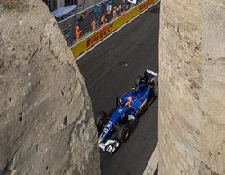 """Felipe Nasr entra en la Q2 de Bakú: """"Sentí que empujé el coche al límite"""""""