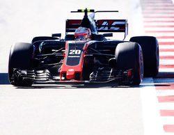"""Romain Grosjean, sobre el toque con Palmer: """"Traté de arrimarme todo lo que pude pero me golpeó"""""""
