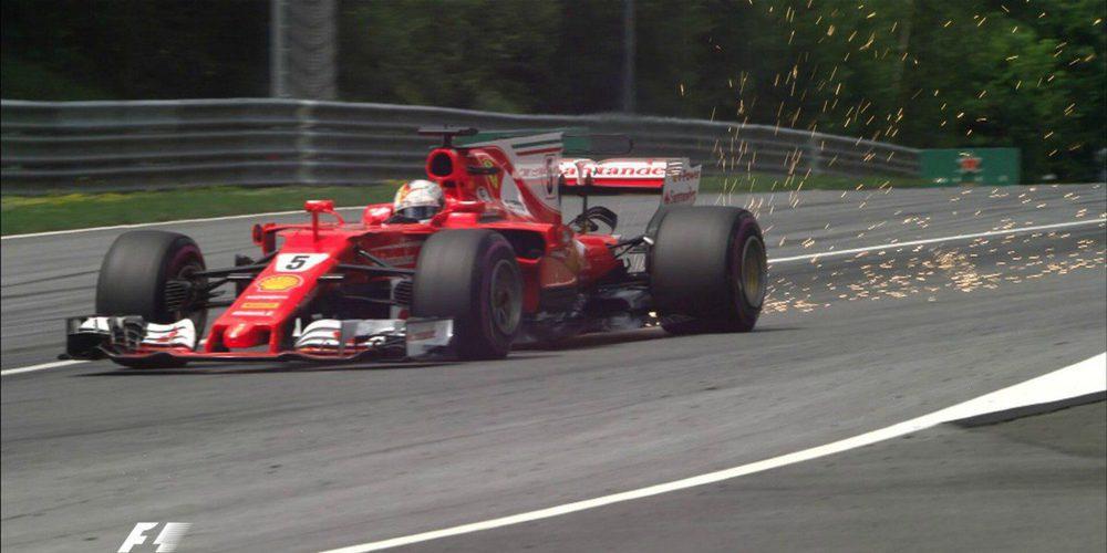 Sebastian Vettel lidera y Hamilton sufre problemas de frenos en los L3 del GP de Austria 2017