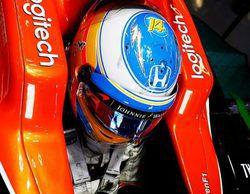 """Fernando Alonso: """"Estoy contento con el día, nos centramos en el ritmo de carrera"""""""
