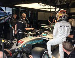 Lewis Hamilton, al frente en unos lluviosos Libres 3 del GP de Gran Bretaña 2017