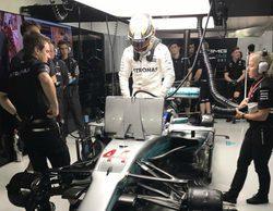 """Lewis Hamilton saldrá 5º: """"Los puntos se reparten mañana, así que no pierdo la esperanza"""""""