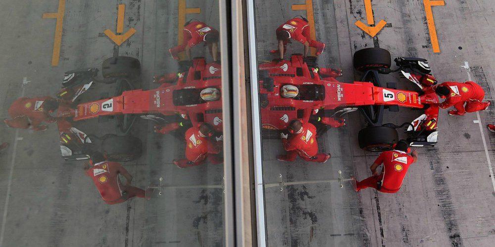 Vettel y Ferrari los más veloces, Kubica más rápido que Stroll en la segunda sesión de tests en Yas Marina