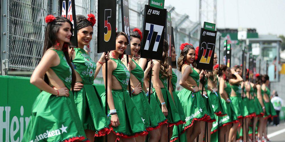 La Fórmula 1 eliminará las azafatas de sus parrillas a partir de 2018