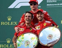 """Sebastian Vettel, 1º: """"Es genial haber terminado con los dos coches en el podio"""""""