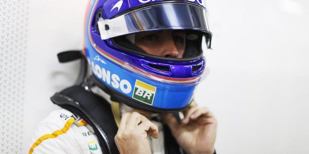 """Fernando Alonso, fuera de Q3: """"Estoy contento con P13 y una elección libre de neumáticos"""""""