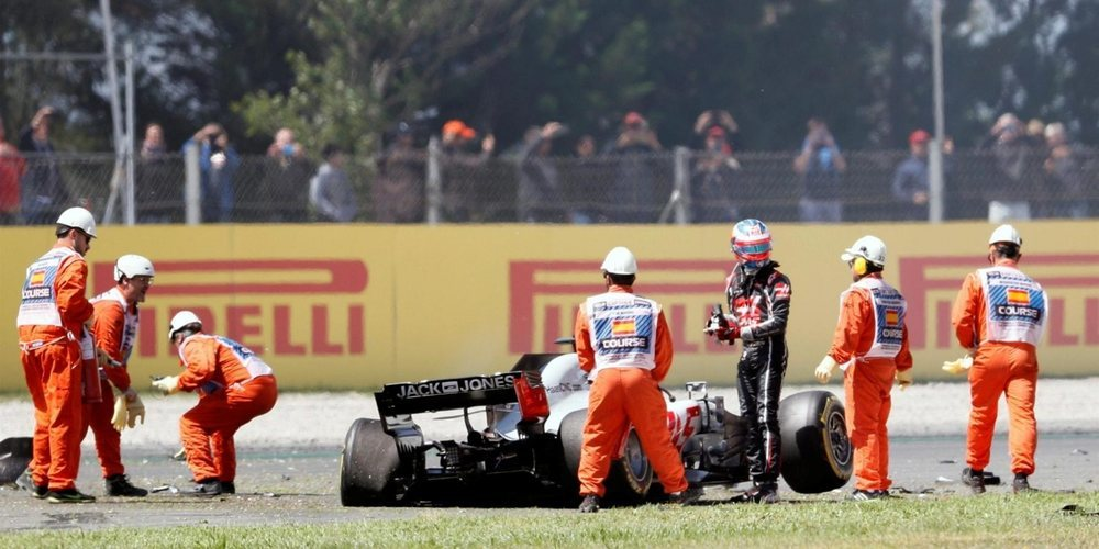 """Guenther Steiner ve injusta la sanción a Grosjean: """"Solo fue un lance de carrera"""""""