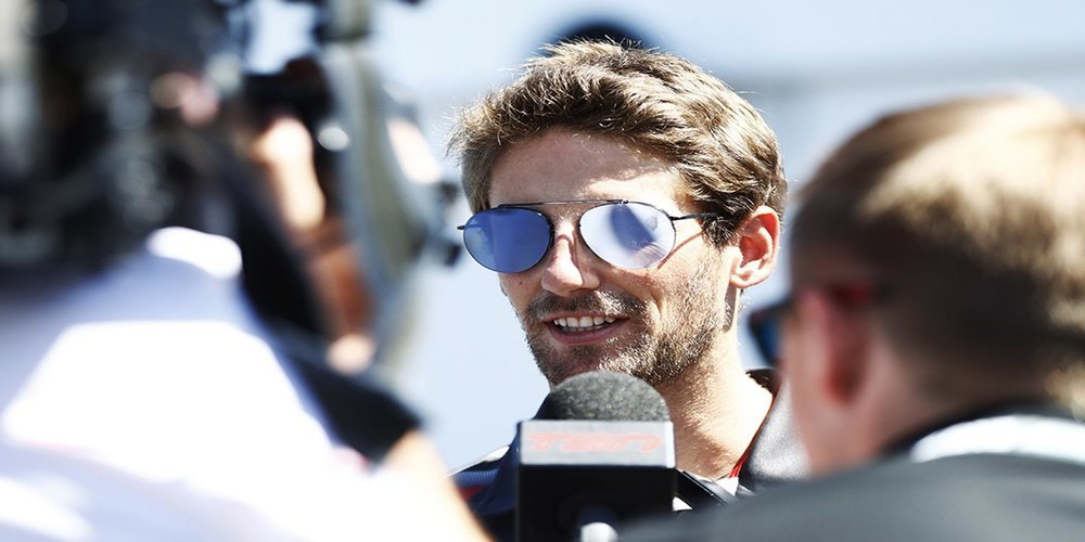 "Grosjean bromea con su fallo de motor: ""Tal vez la marmota se quedó dentro"""