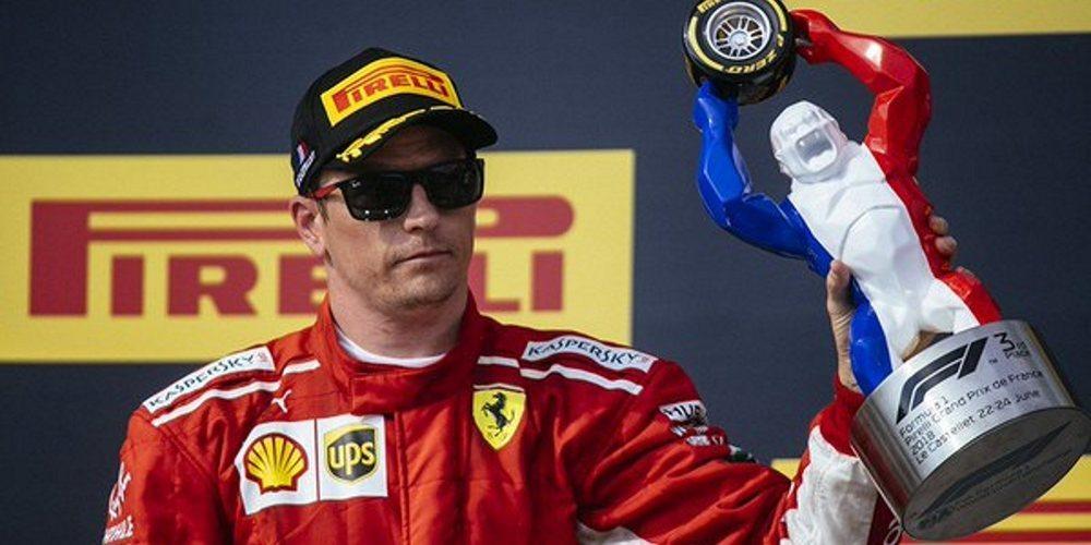 """Kimi Räikkönen, en su regreso al podio: """"Fue mucho más divertido que las últimas dos carreras"""""""