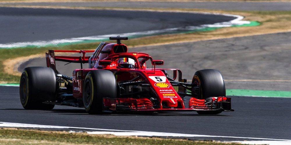 Vettel gana GP de Gran Bretaña; Pérez es décimo