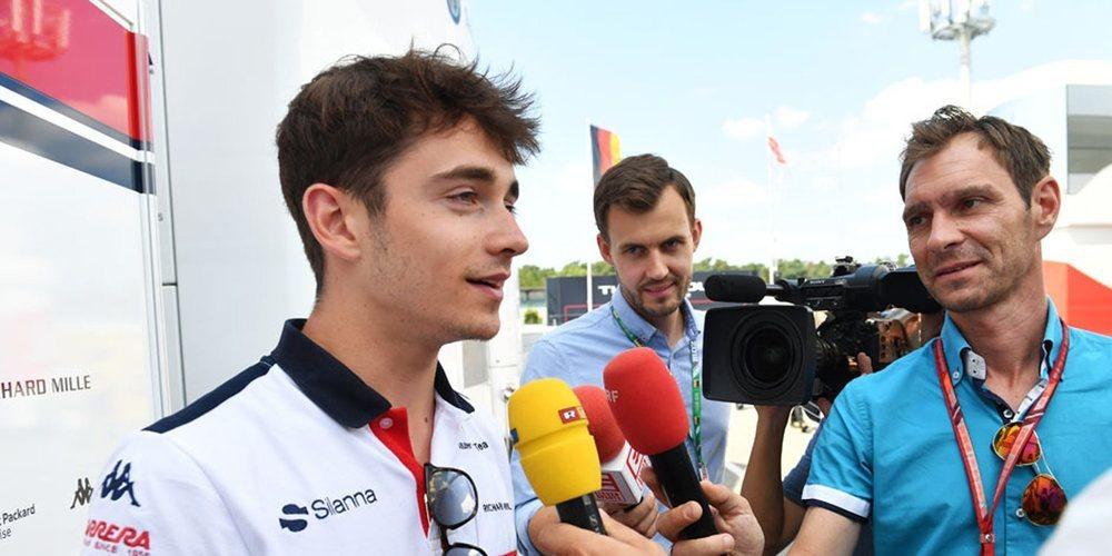 """Charles Leclerc: """"Fue un día positivo, esperamos conseguir un buen resultado en clasificación"""""""