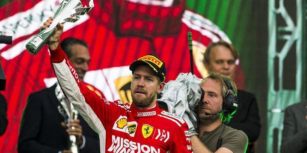 """Sebastian Vettel, segundo en México: """"Una cosa es estar abajo y otra no poder levantarme"""""""