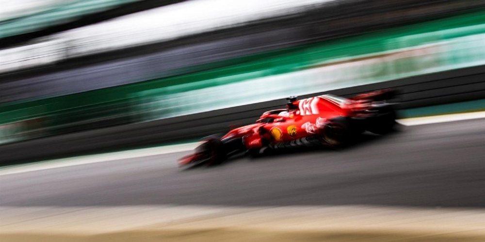 Inmejorable Vettel en los Libres 3 del GP de Brasil 2018