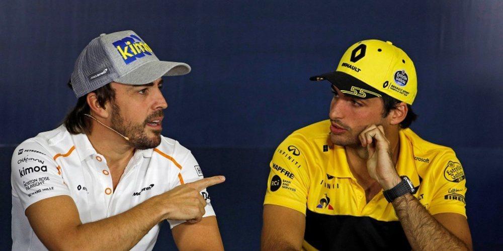 """Sainz, sobre Alonso: """"Al ser uno de los mejores pilotos puede regresar a la F1 cuando quiera"""""""