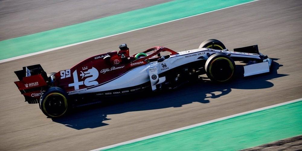 Antonio Giovinazzi hace fuerte a Alfa Romeo y logra el mejor tiempo de la mañana; McLaren, KO