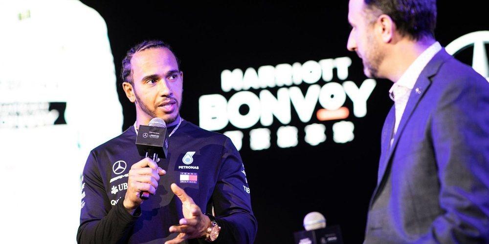 """Lewis Hamilton: """"La situación actual no es real; Ferrari es muy fuerte"""""""