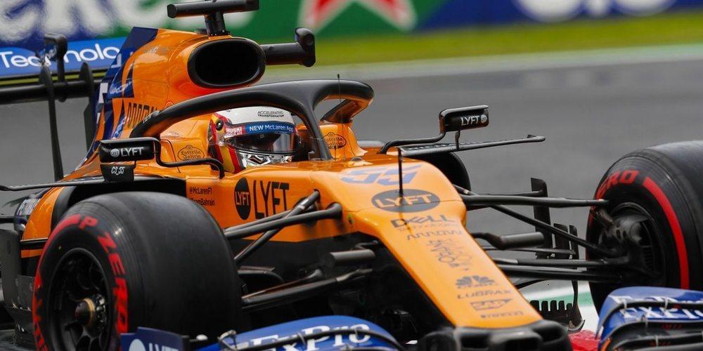"""Carlos Sainz: """"Ha sido un viernes positivo con un ritmo alentador tanto en mojado como en seco"""""""