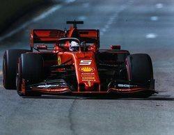 Sebastian Vettel y Charles Leclerc brillan más que el resto en la carrera de Marina Bay