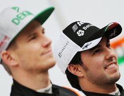"""Sergio Pérez, tajante: """"Me entristecería que Hülkenberg no siguiera en la Fórmula 1"""""""