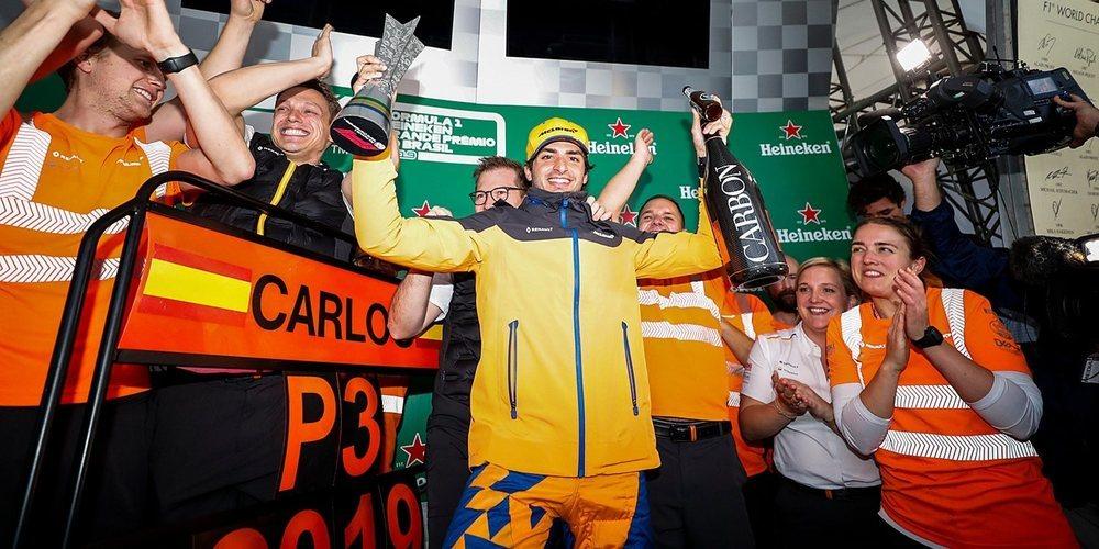 """Carlos Sainz: """"El de hoy es un primer podio muy especial para mí"""""""