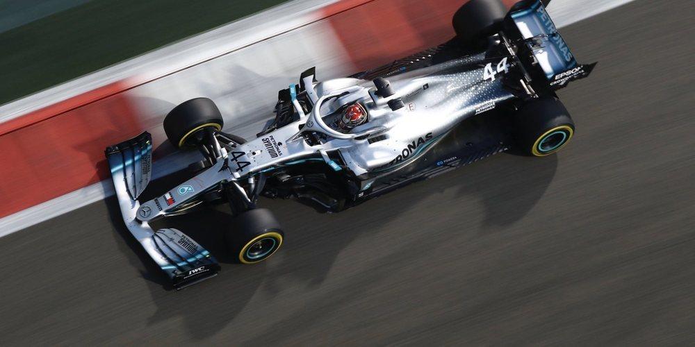 Lewis Hamilton deslumbra en la bajada del telón de la temporada en Abu Dabi