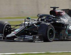 Lewis Hamilton cruza la bandera a cuadros con una rueda pinchada y se alza con la victoria in extremis