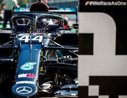 """Lewis Hamilton: """"Estoy muy contento con las vueltas que hice; Valtteri había estado muy cerca"""""""