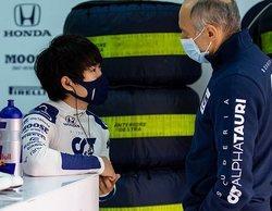 La primera toma de contacto de Tsunoda con un coche de F1 ha sido positiva en el test de Imola