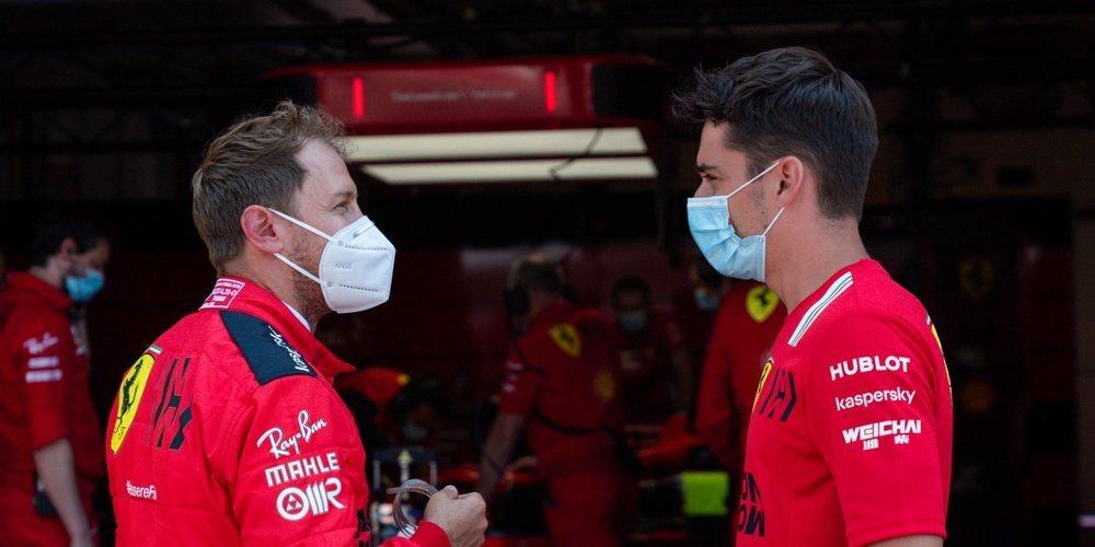 """Vettel sobre Leclerc: """"Soy feliz con cada cosa que logra y logre en el futuro, es un buen chico"""""""