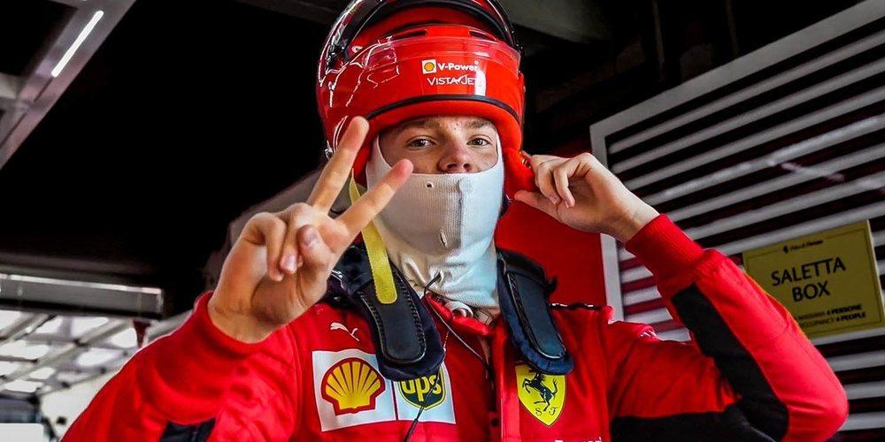 Fuoco y Robert Shwartzman participan en los test de jóvenes pilotos en Abu Dabi con Ferrari