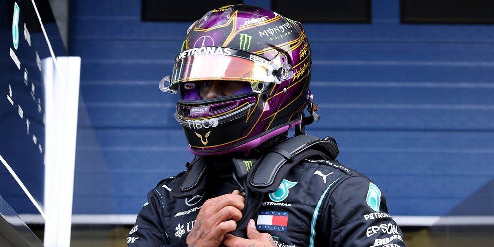 """Lewis Hamilton: """"Hoy ha sido más un día de test; estuvimos descubriendo los Pirelli de 2021"""""""