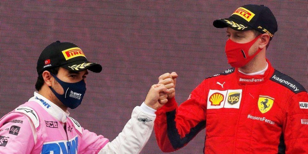 """Pérez, de Vettel y Aston Martin: """"No tengo ninguna duda, serán uno de los más fuertes en 2021"""""""
