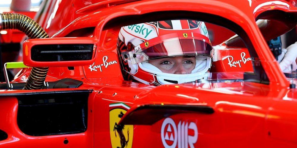 """Charles Leclerc, encantado con su día: """"El sonido de un motor de Ferrari siempre es mágico"""""""