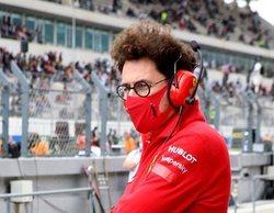 """Mattia Binotto: """"La diferencia con Mercedes es demasiado grande y no la recortaremos pronto"""""""