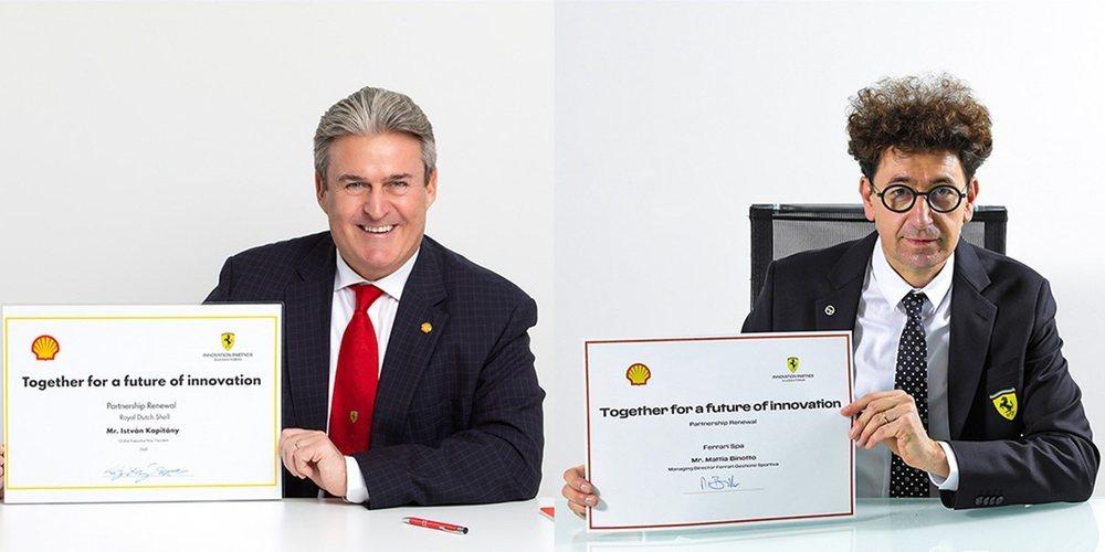 Ferrari y Shell continuarán trabajando mano a mano tras renovar su acuerdo multianual